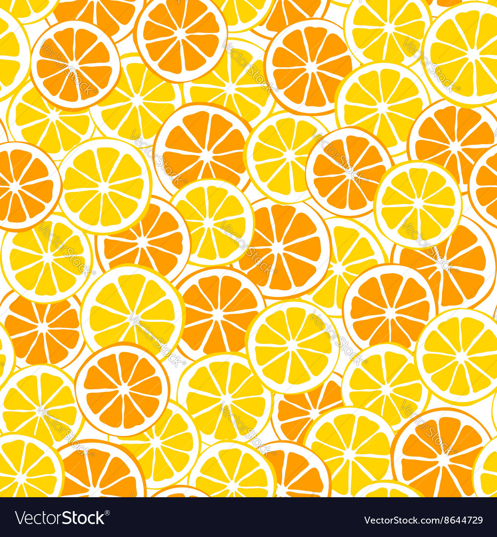 Lemons and oranges slices seamless pattern