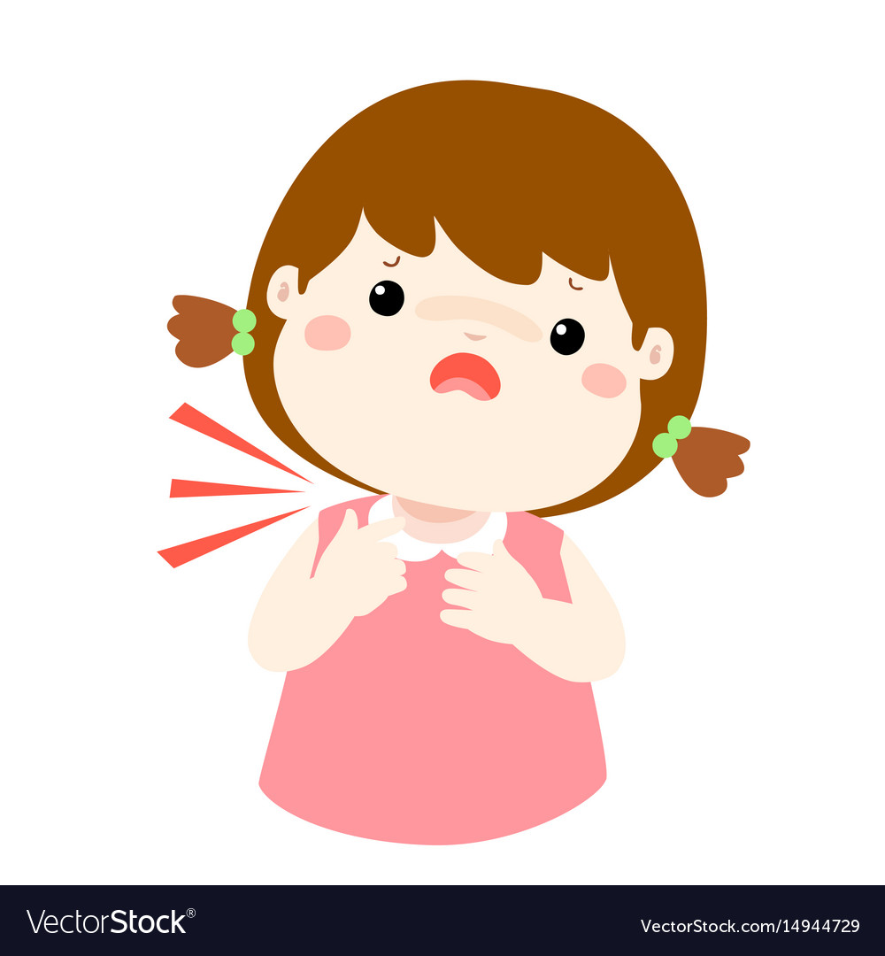 sick girl sore throat cartoon royalty free vector image hand print clip art svg handprint clip art baby