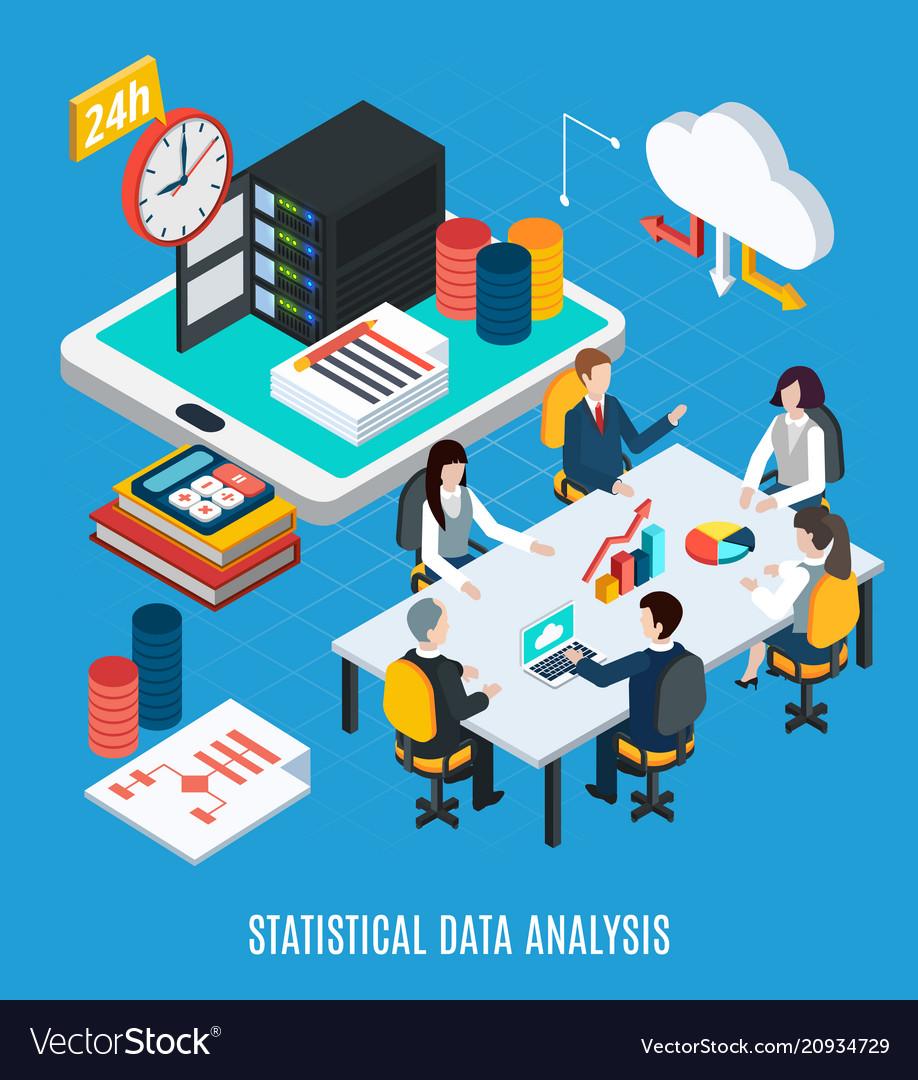 Statistical data analysis isometric background