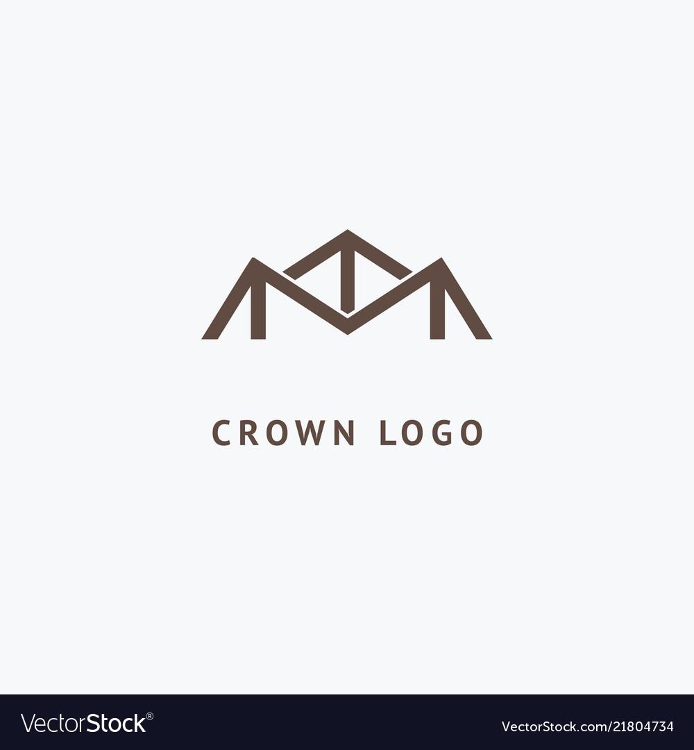 Abstract vetor crown logo design sign for