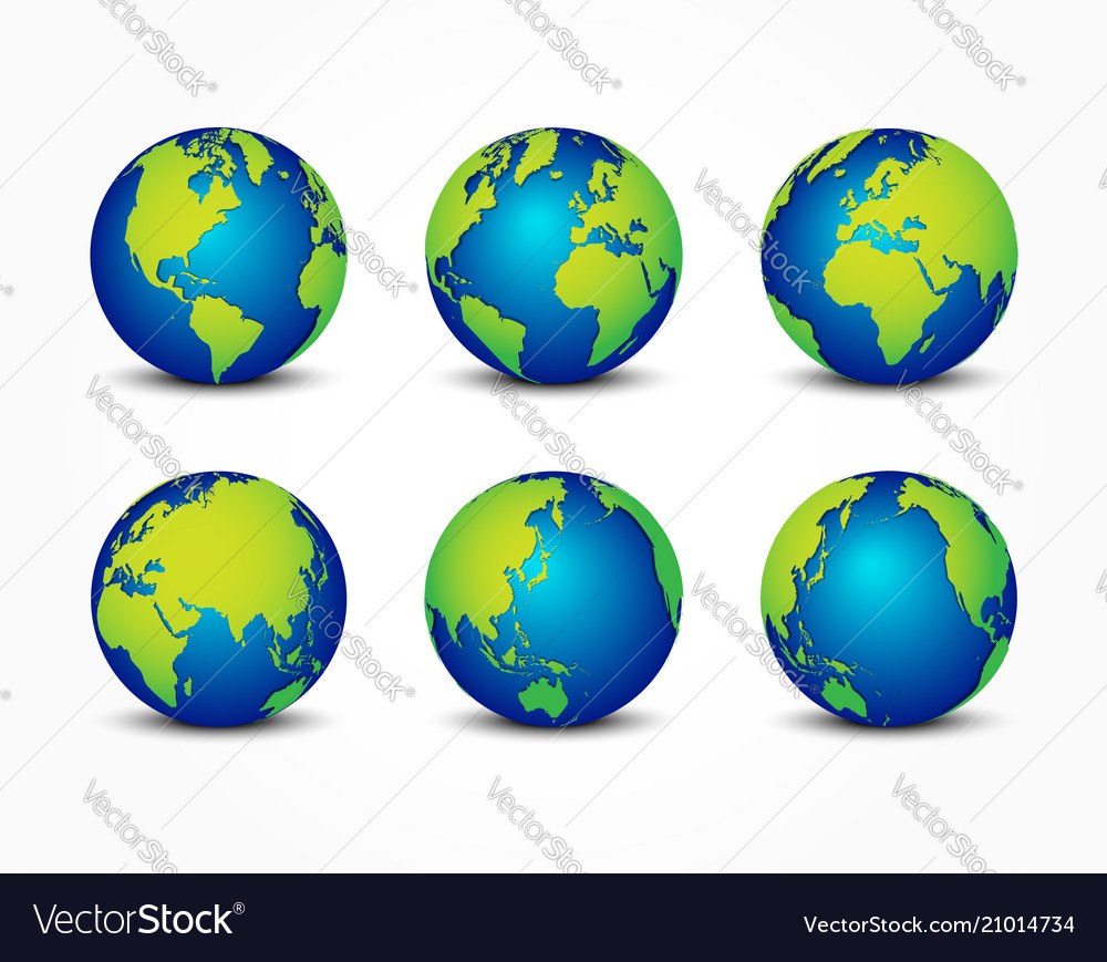 All side of planet around the world