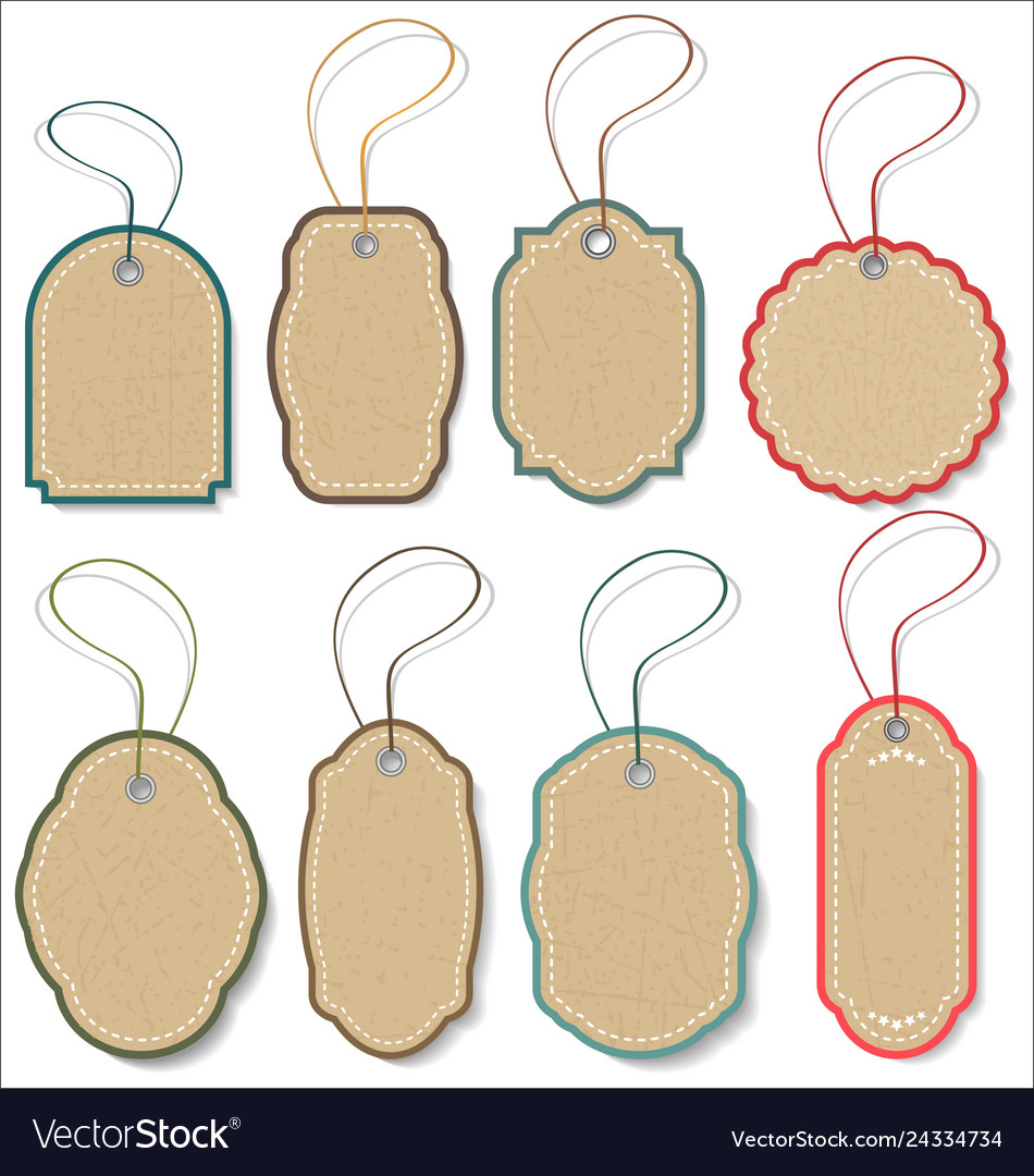 Blank hanging gift tags collection