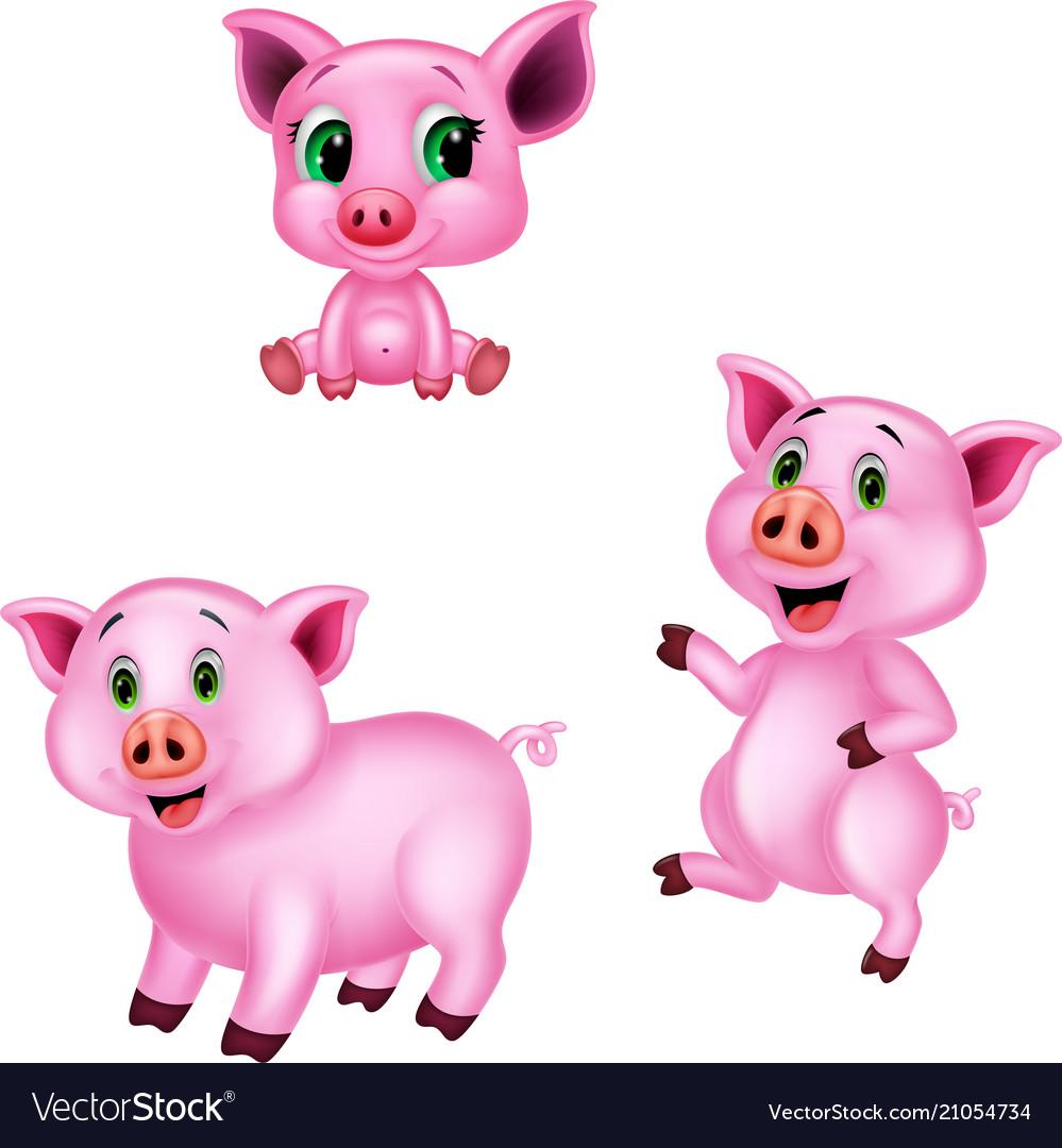 Cartoon pig collection set