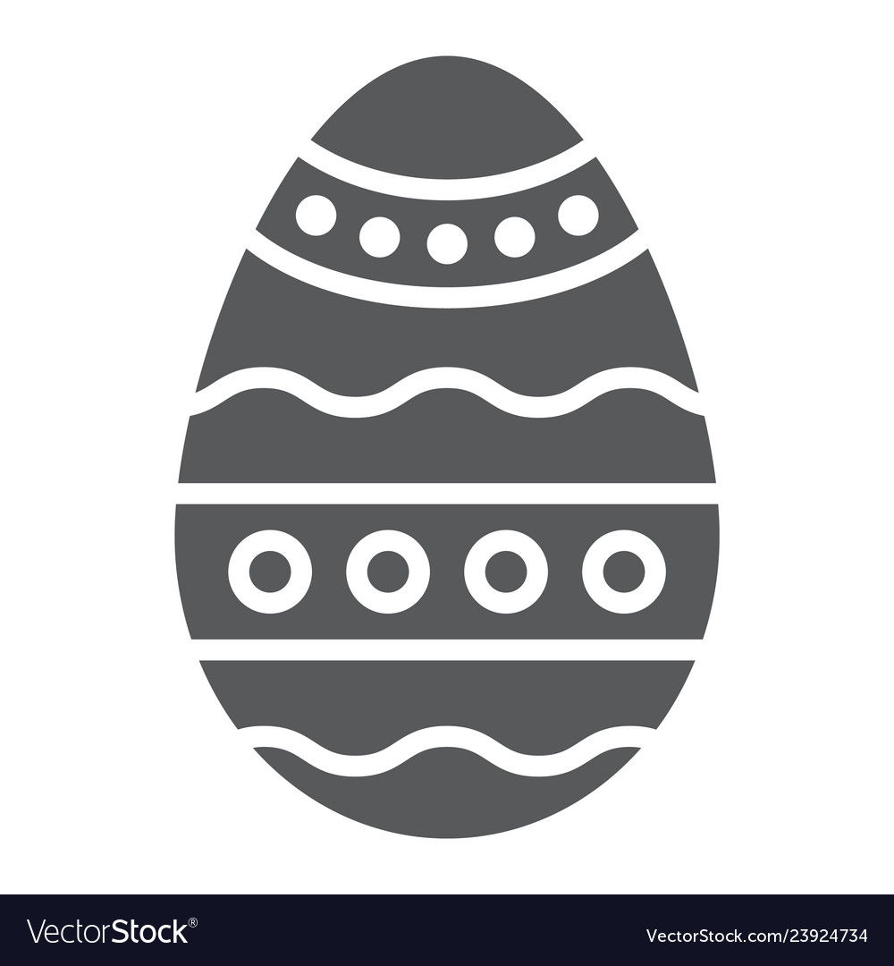Easter egg glyph icon decoration and easter