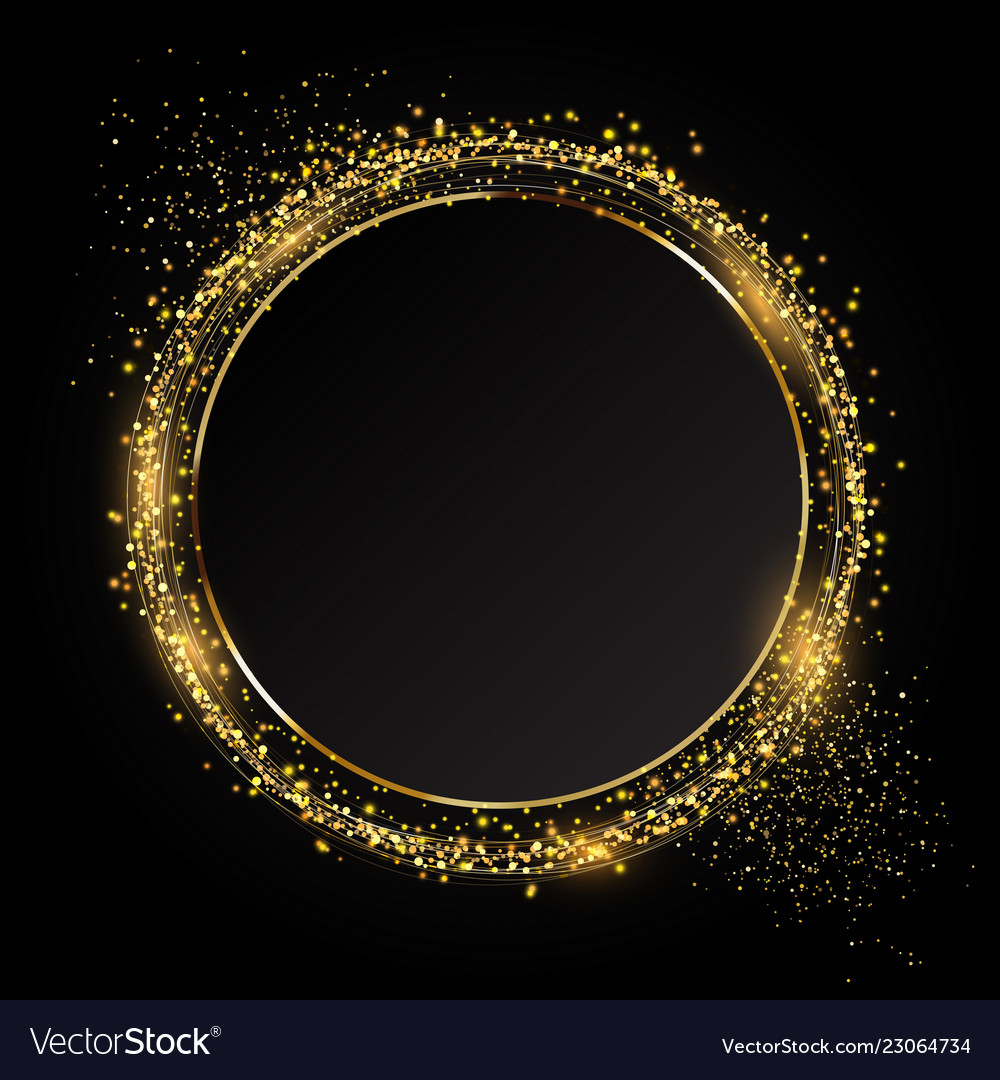 Glittery circle background ideal for festive
