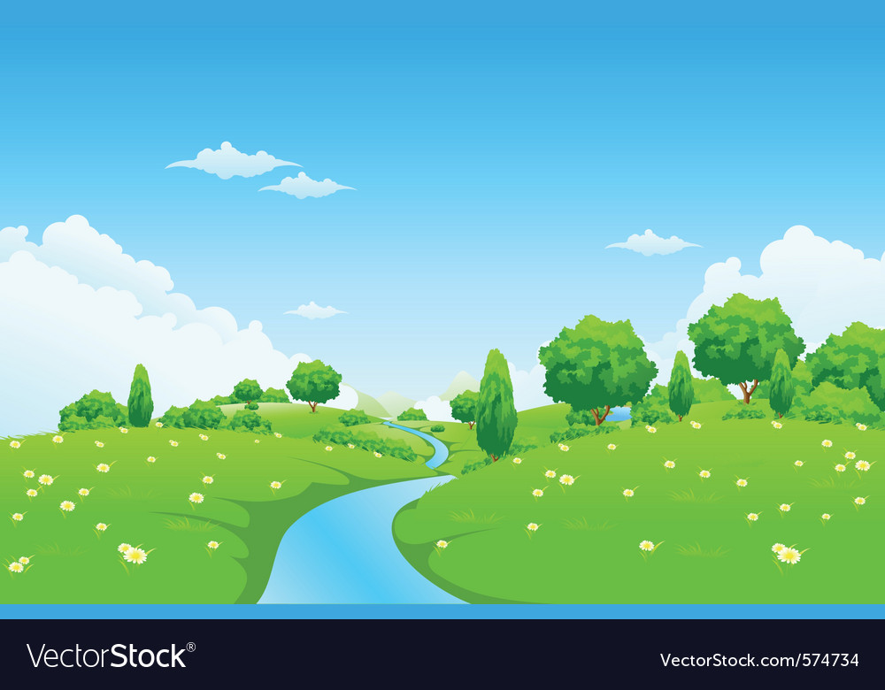 Green city landscape Royalty Free Vector Image