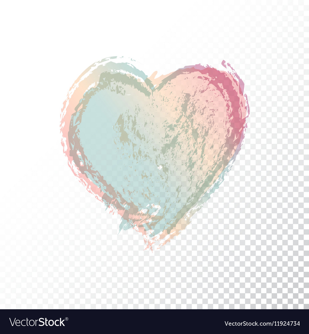 Hand drawn watercolor heart vector image
