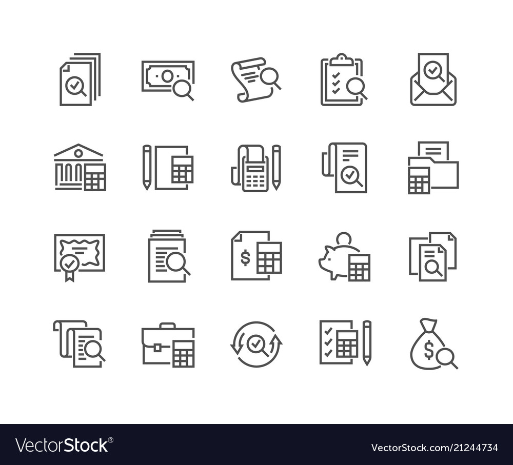 Line accounting icons