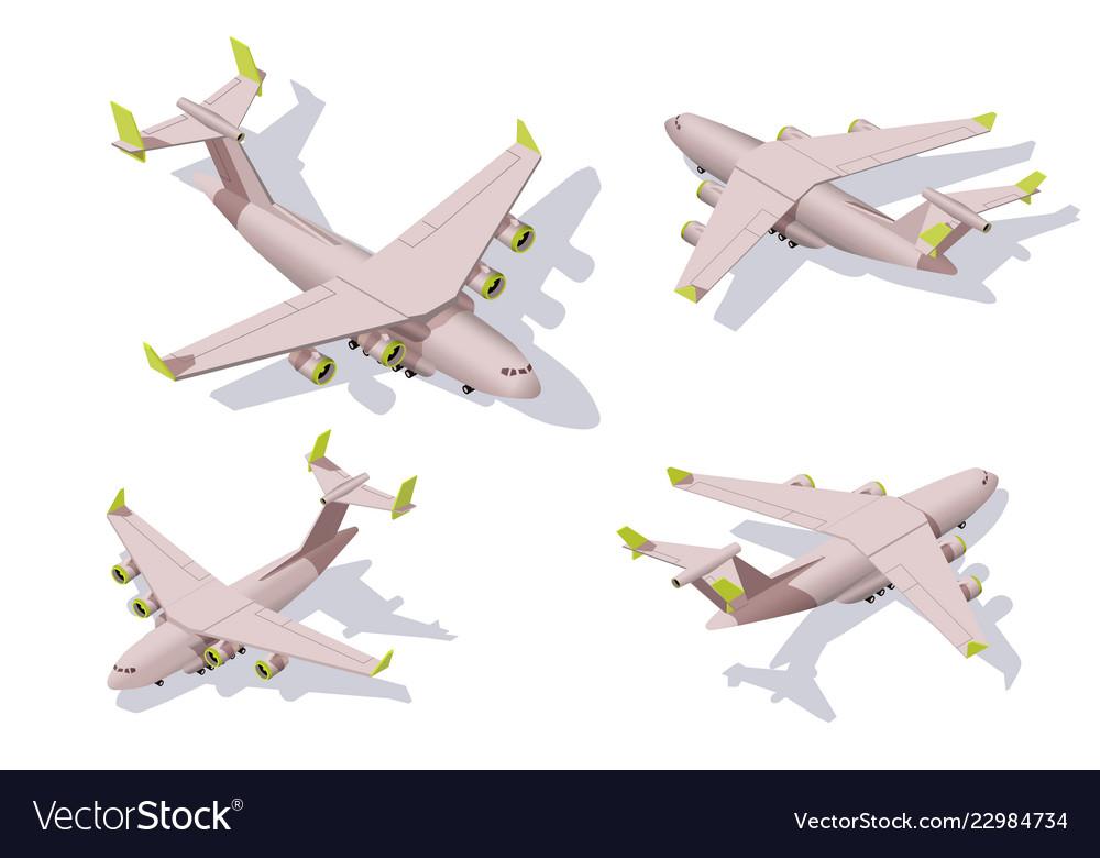 Set big cargo airplane for transportation