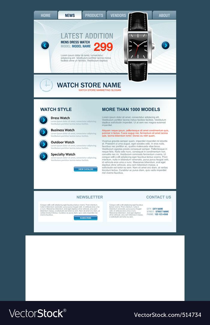 Watch store web template