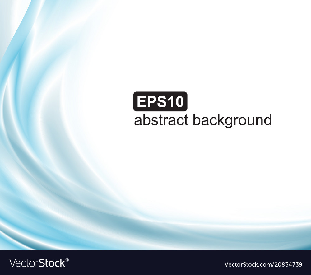 Abstract blue waves background smoke