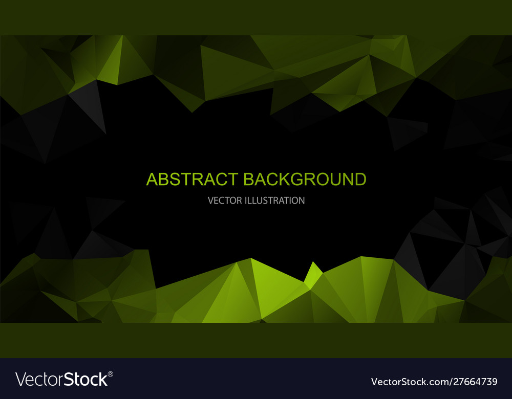 Black and green polygonal background