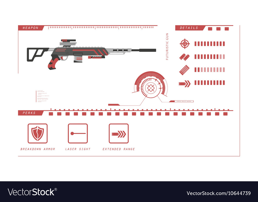 Details of gun sniper rifle Game perks