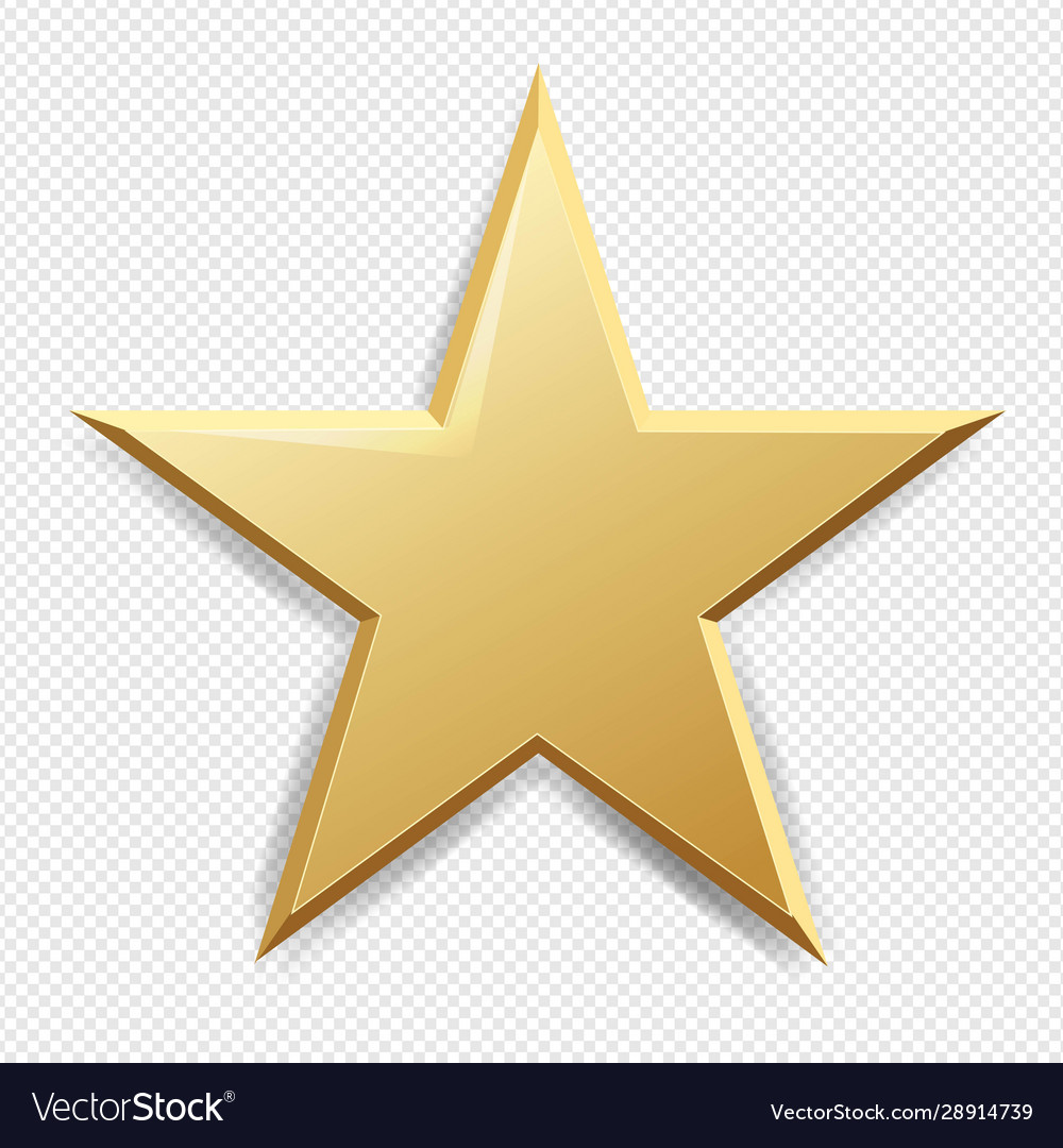 Golden Star And Isolated Transparent Background Vector Image Stars png for kids and adults. vectorstock