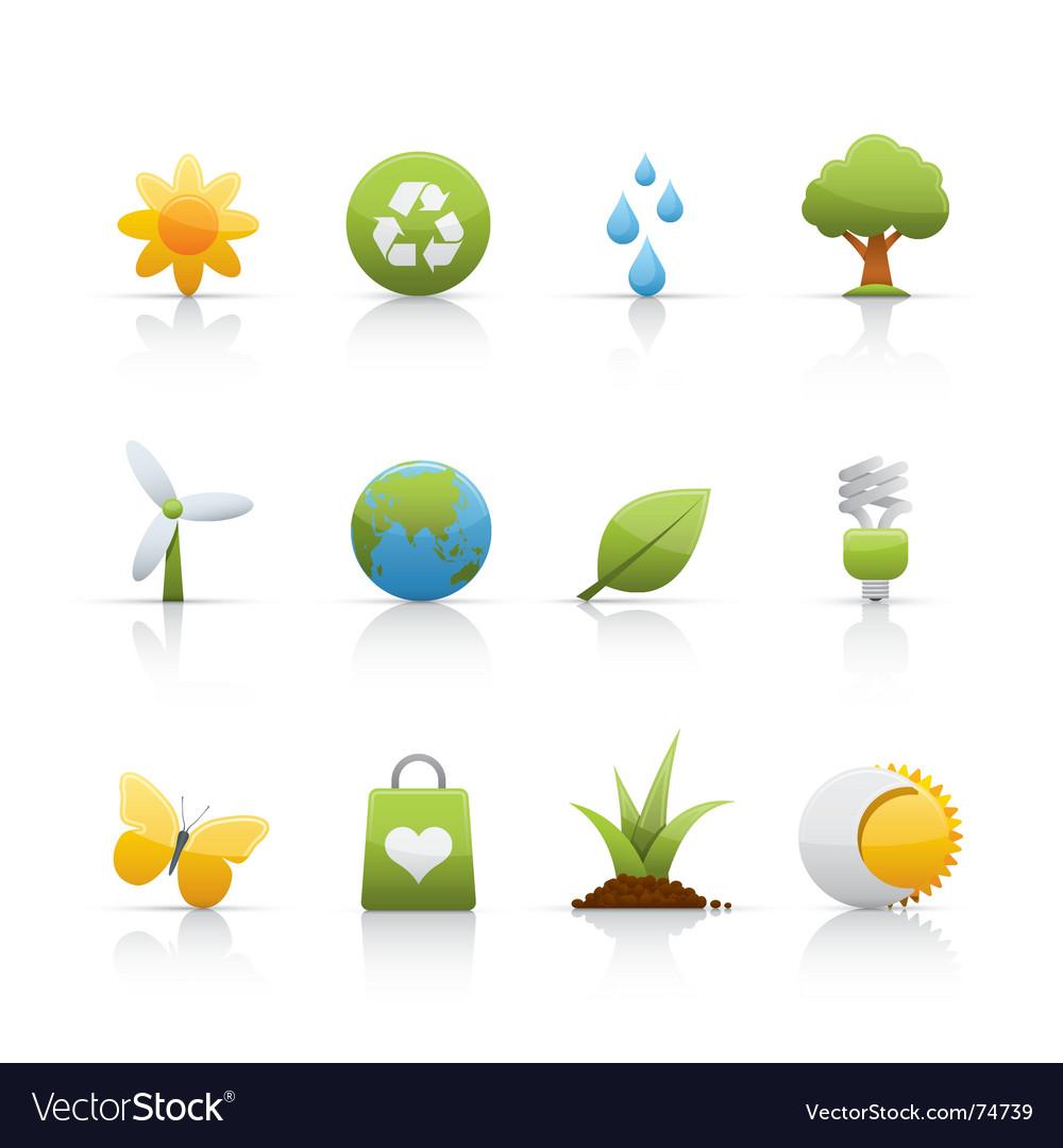 Icon set ecology vector image