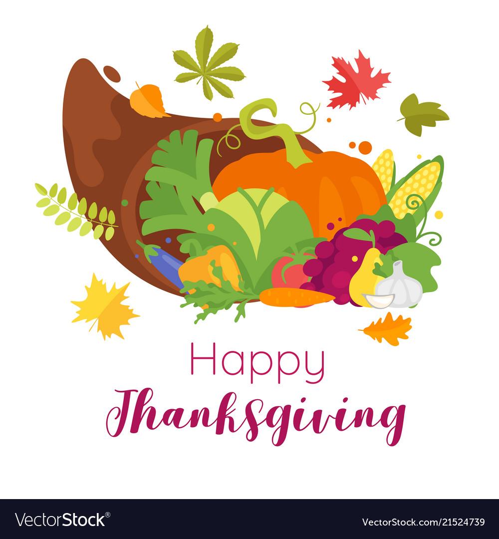 Thanksgiving day greeting card