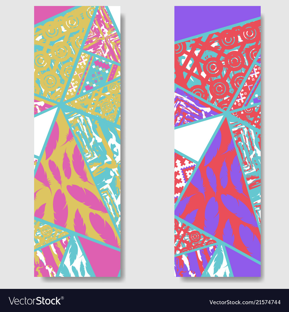 African color banners set
