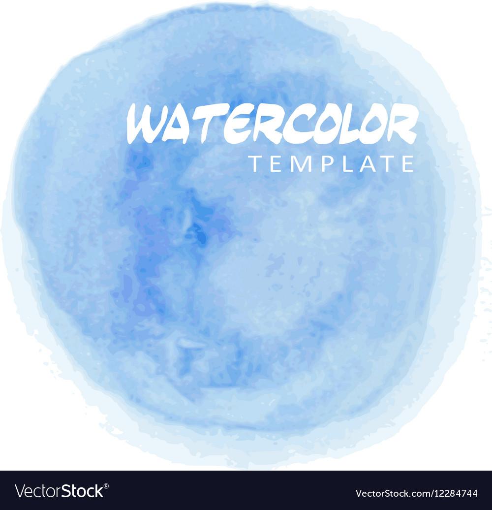 Blue watercolor splatter