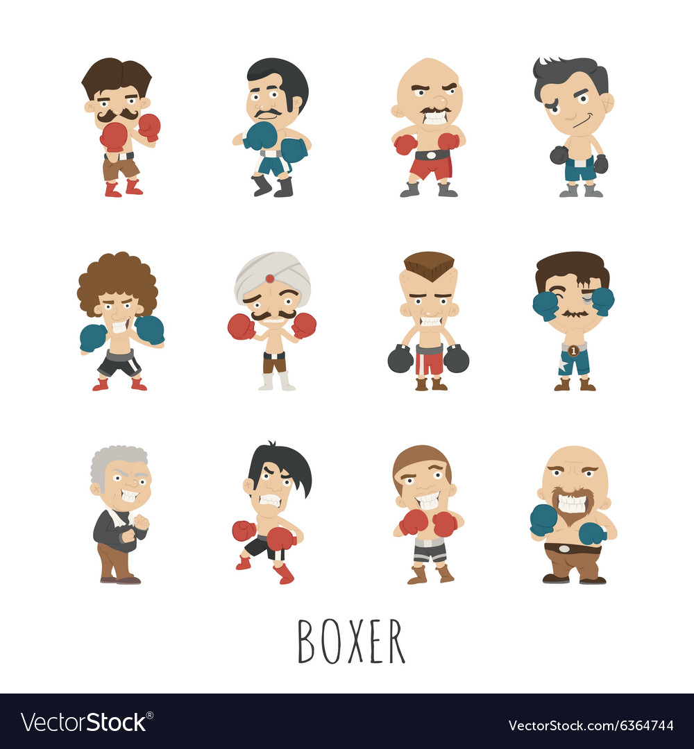 Boxing player eps10 format