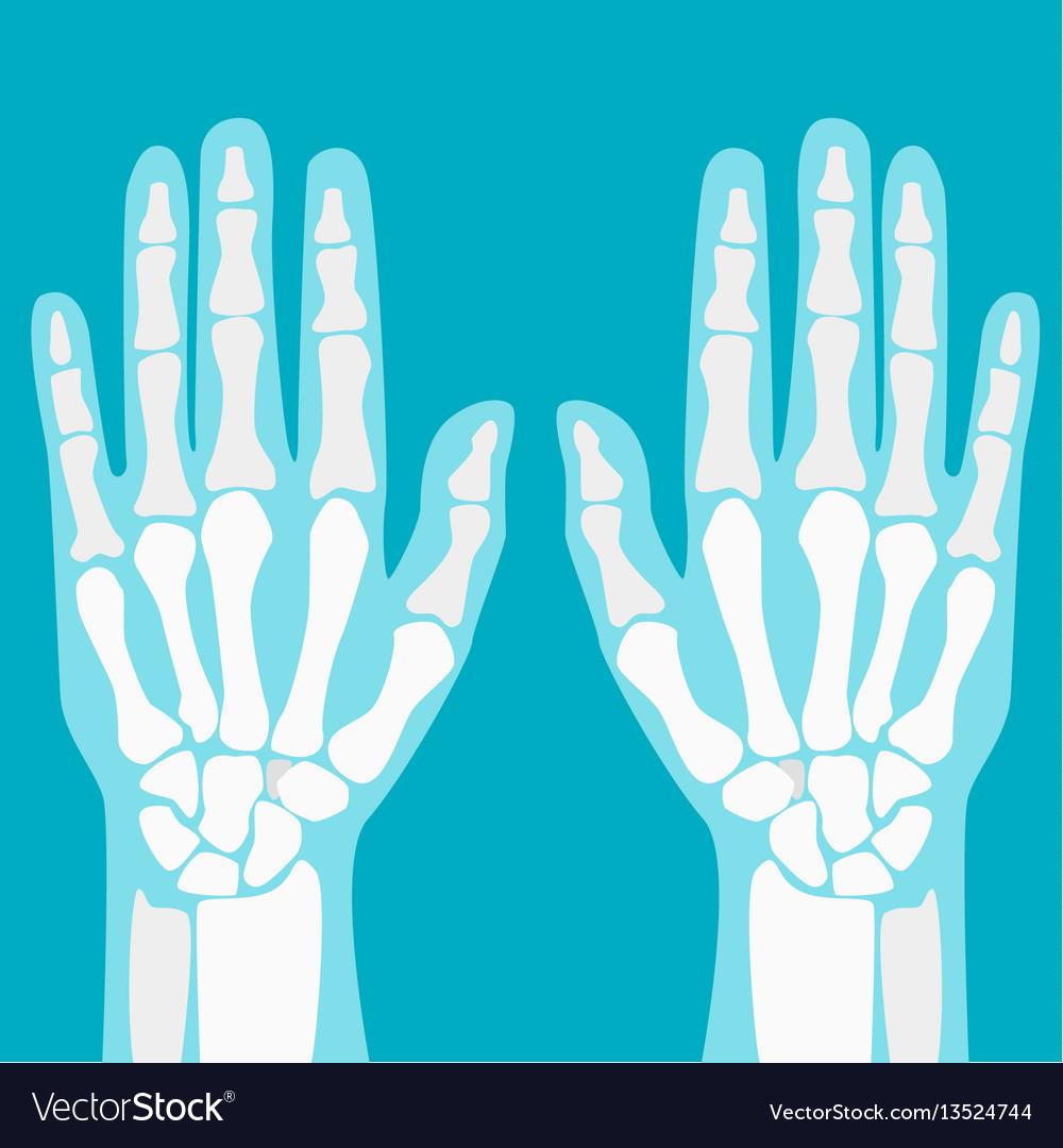 Cartoon human joints hands set