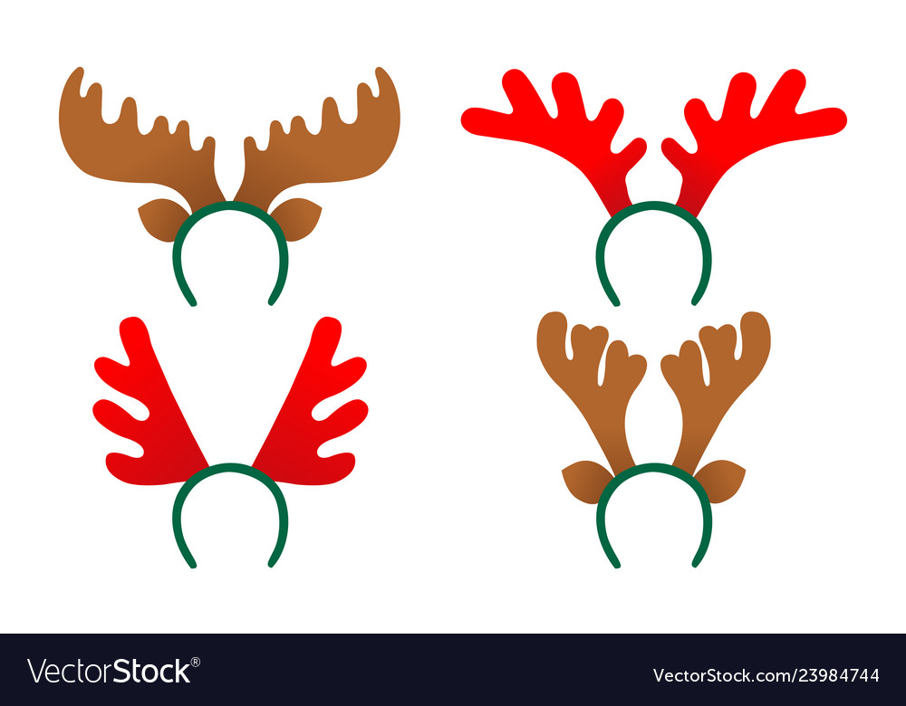 Set antlers a deer isolated