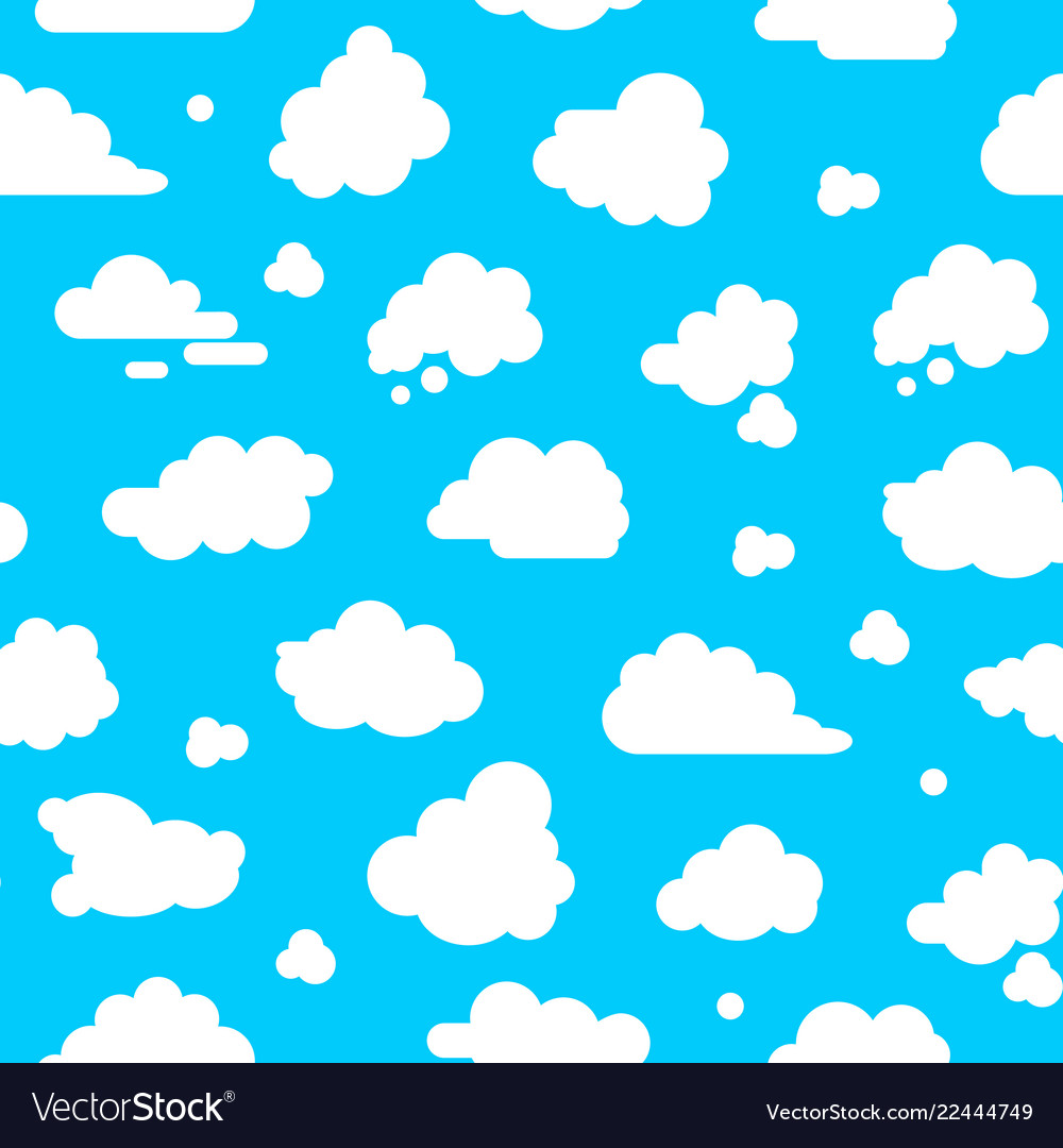 Abstract clouds signs seamless pattern background
