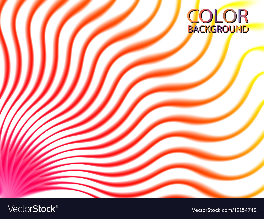 Abstract color wave lines design element eps10 vector image