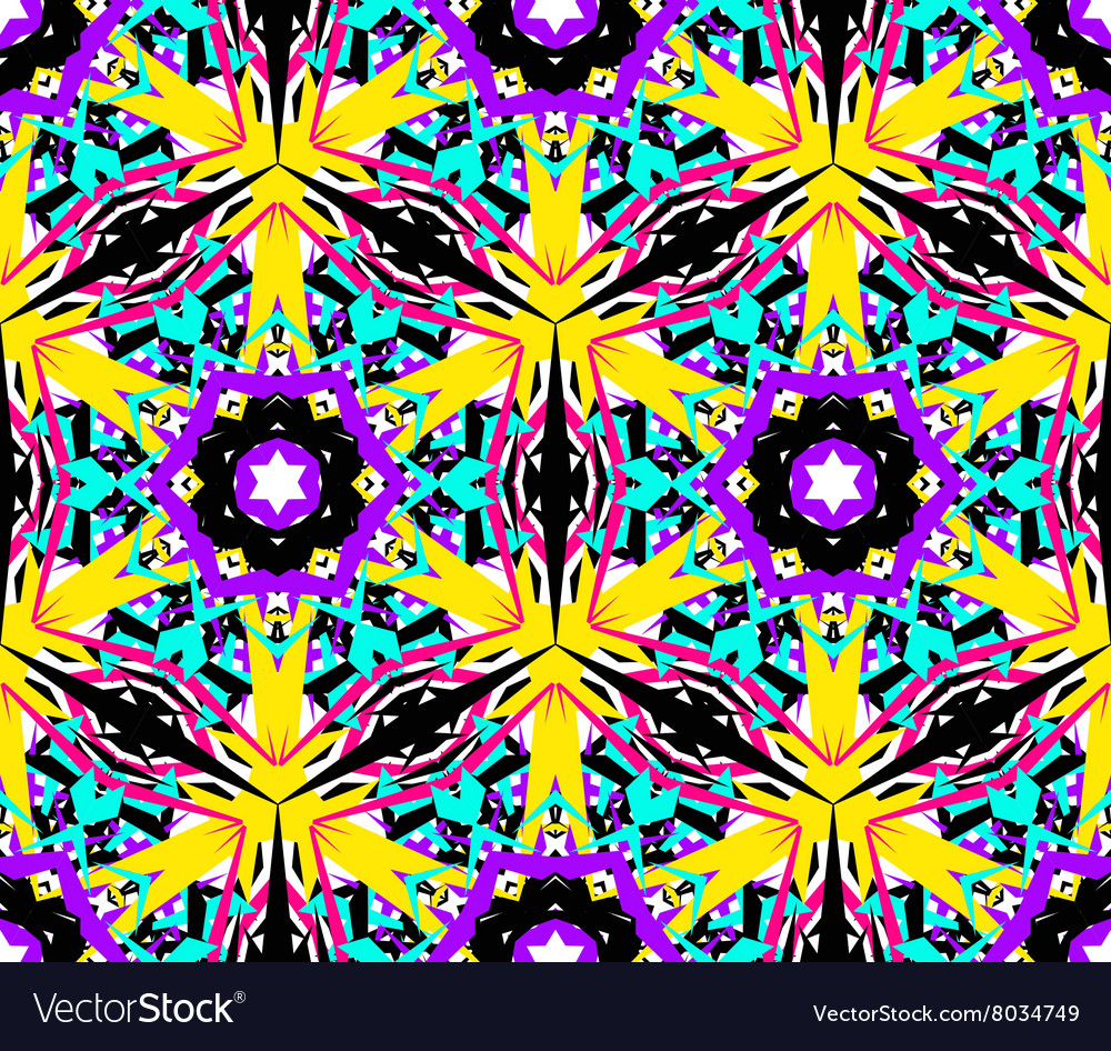 Abstract Flower Fractal Pattern