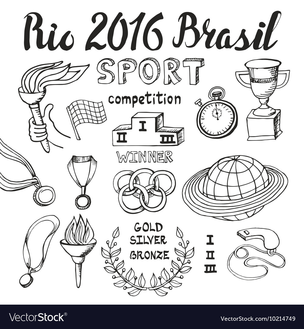 BrasilRio 2016Sport doodlesWinner set
