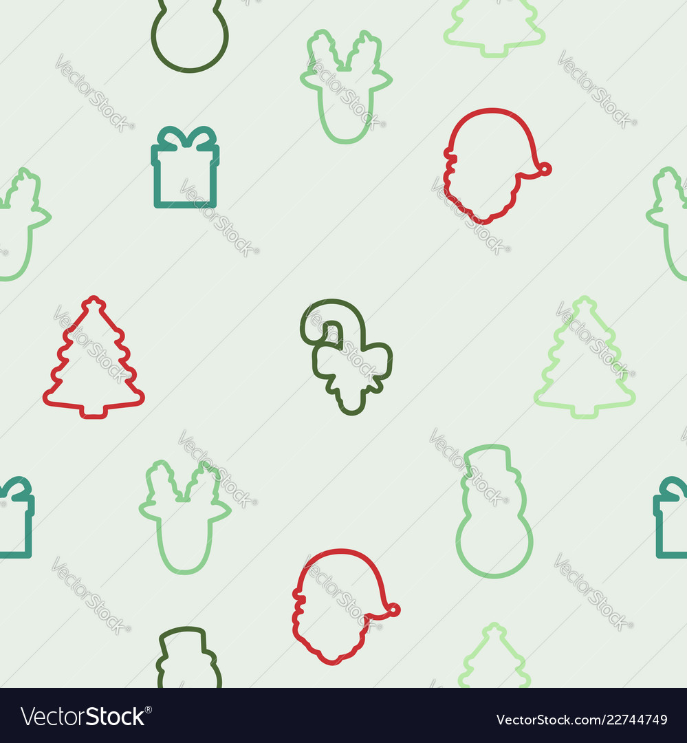 Christmas element icons pattern