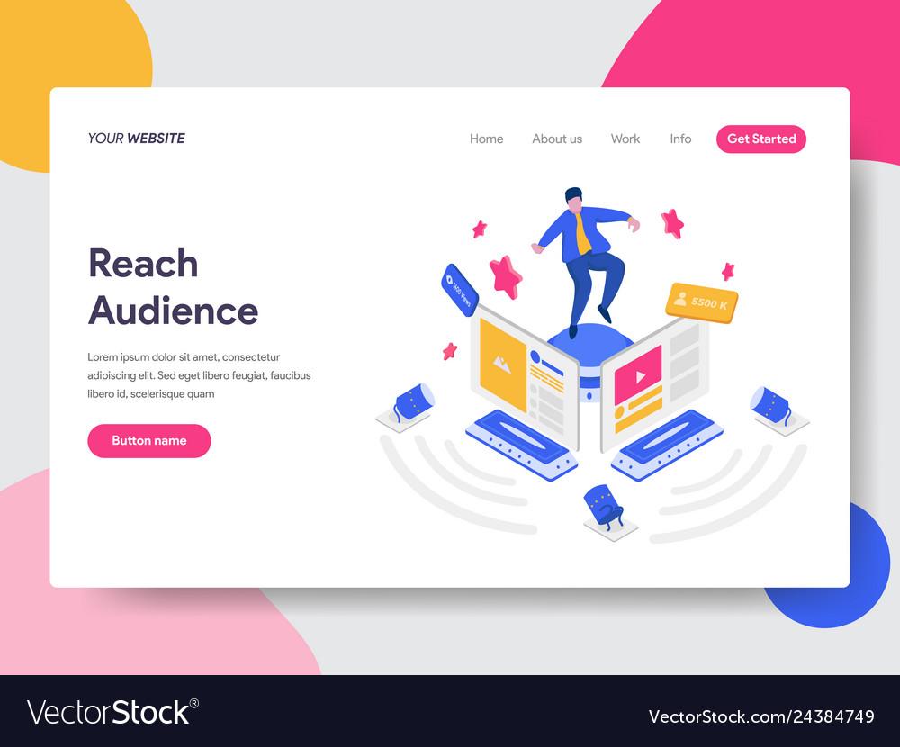Landing page template reach social media