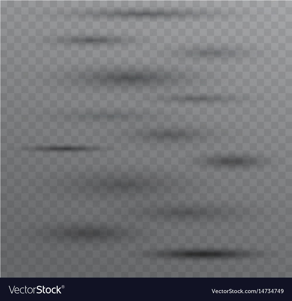 Transparent shadows isolated on dark background