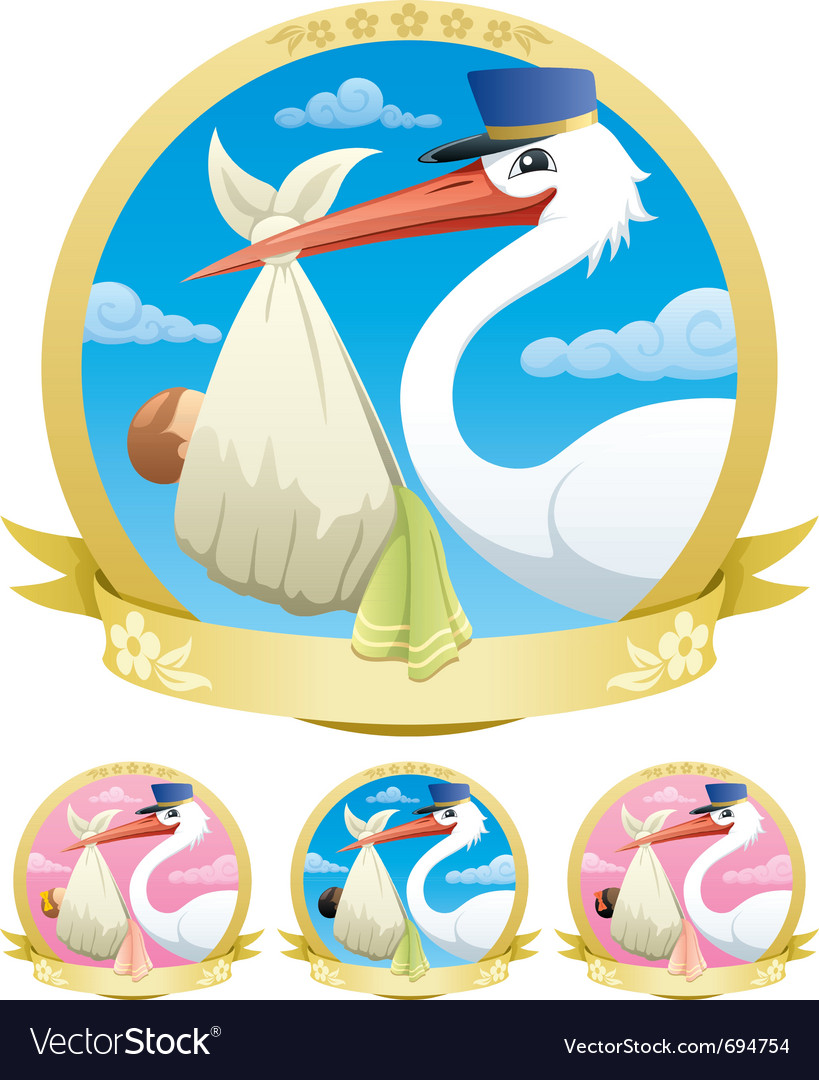 Baby delivery vector image