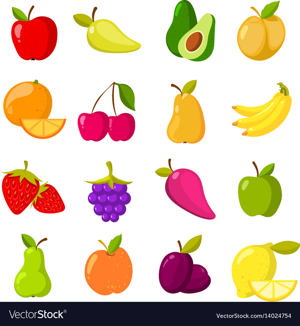 cartoon-fruits-clipart-collection-isolated-vector-14024754 Get Inspired For Vector Clipart Images @koolgadgetz.com.info