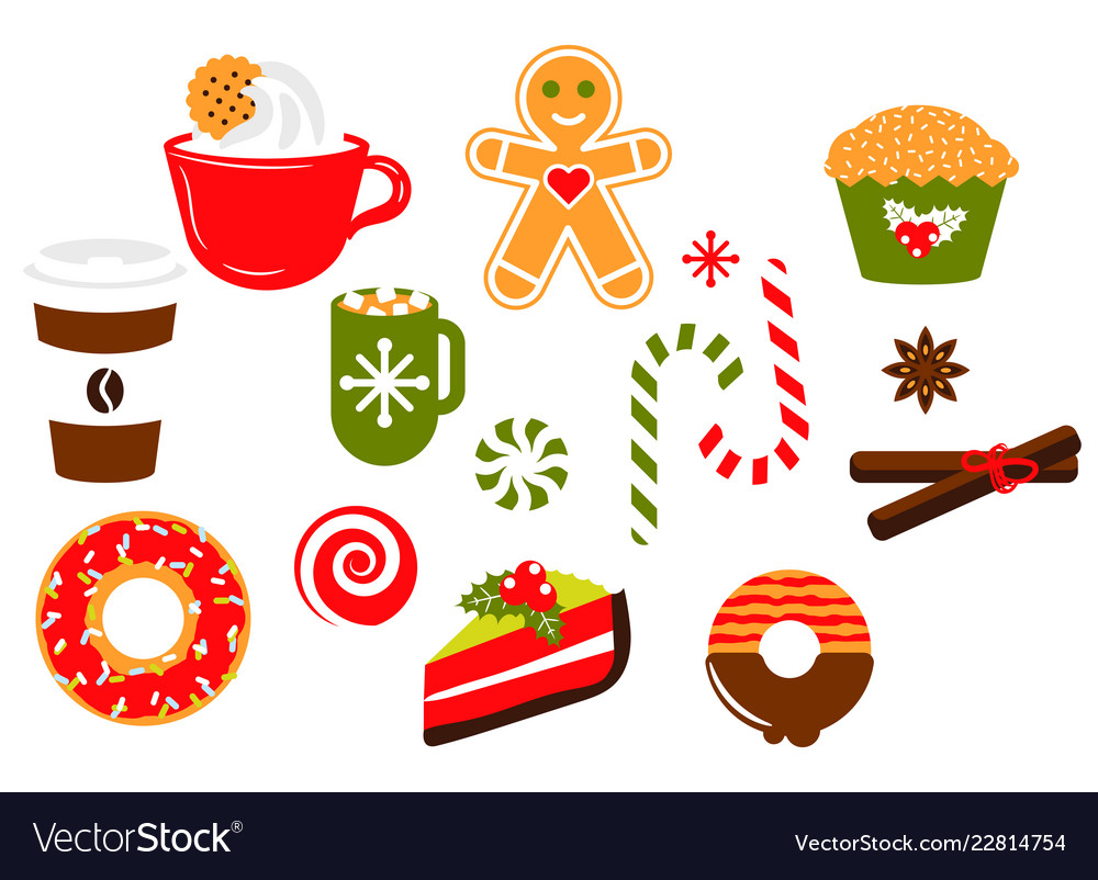 Christmas sweets candy clipart Royalty