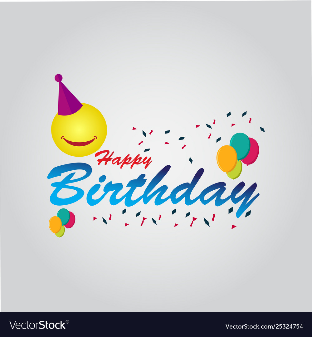 Happy birthday template design