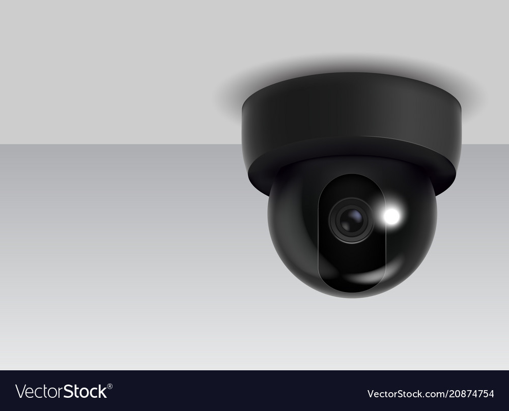Realistic detailed 3d ceiling cctv security camera