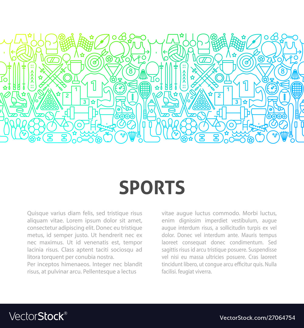 Sports line design template