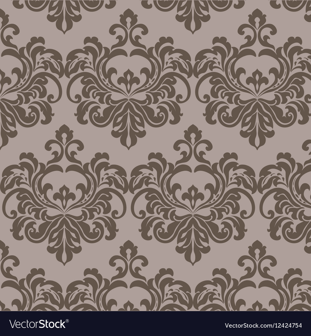 Vintage damask floral ornament pattern