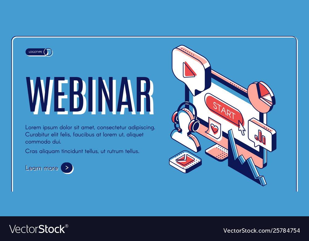 Webinar conference video online seminar banner