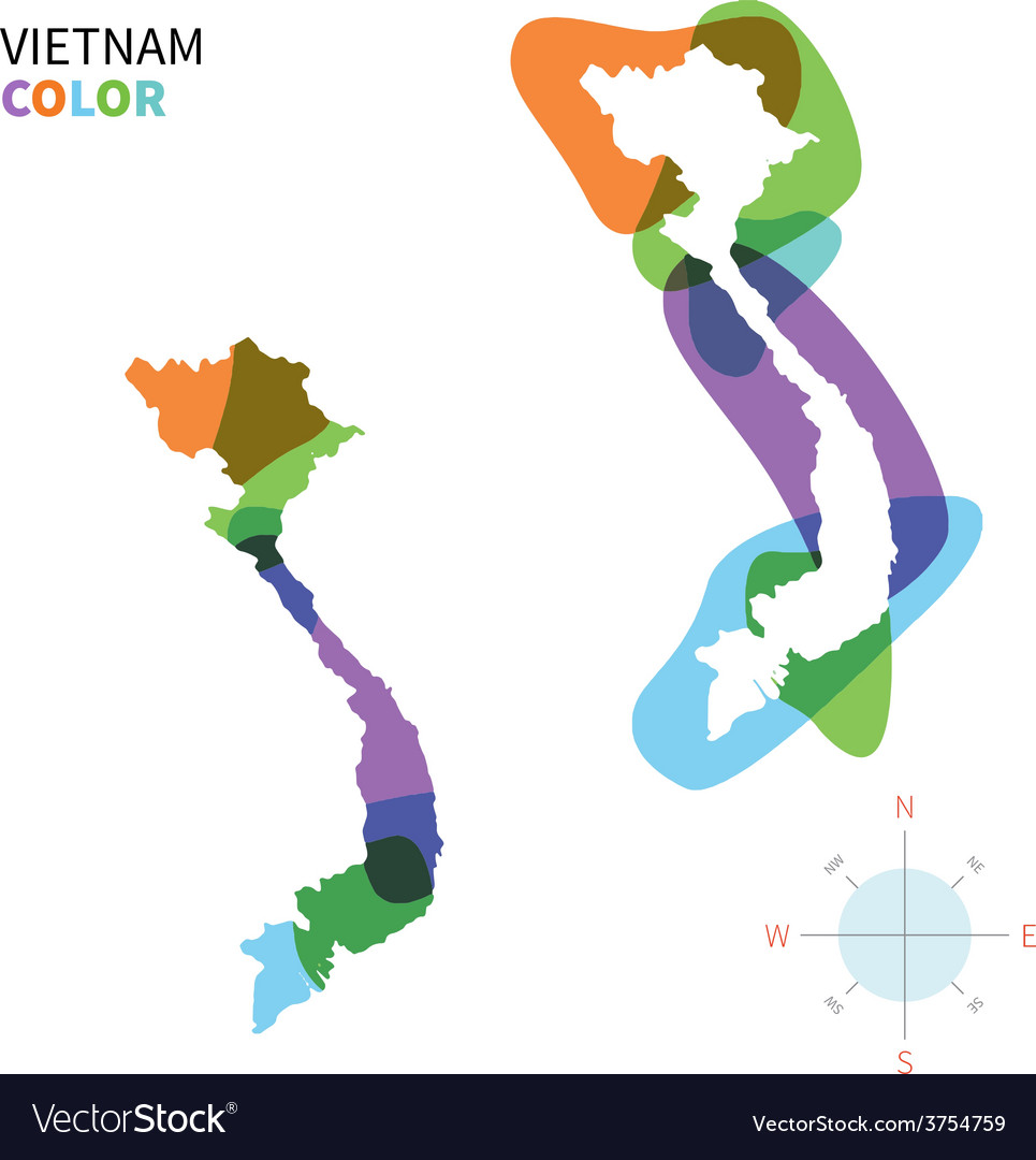 Abstract Color Map Of Vietnam Royalty Free Vector Image