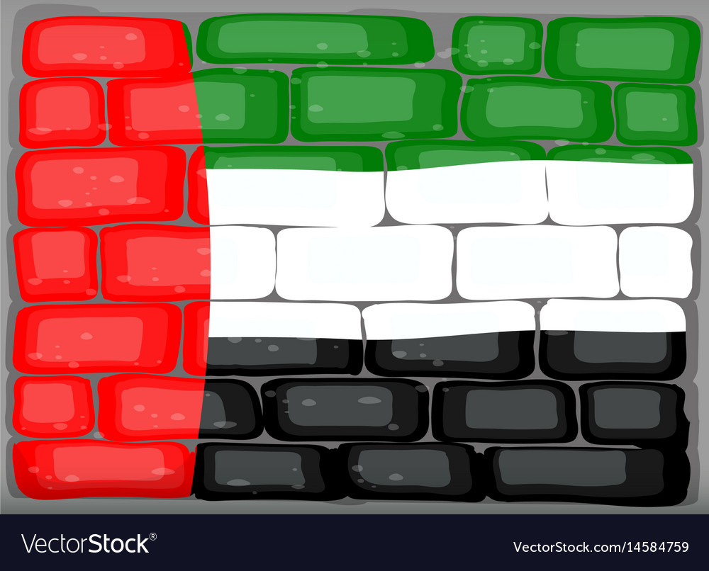 Arab emirates flag on the wall