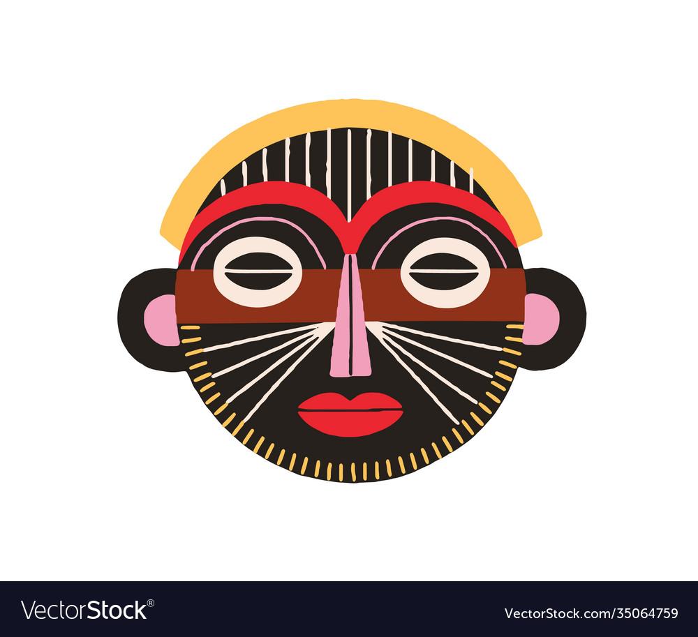 Ethnic african tribal mask black ritual holy