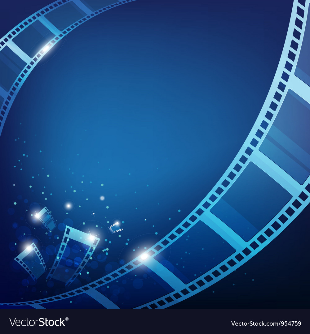 Film for photos blue background vector image