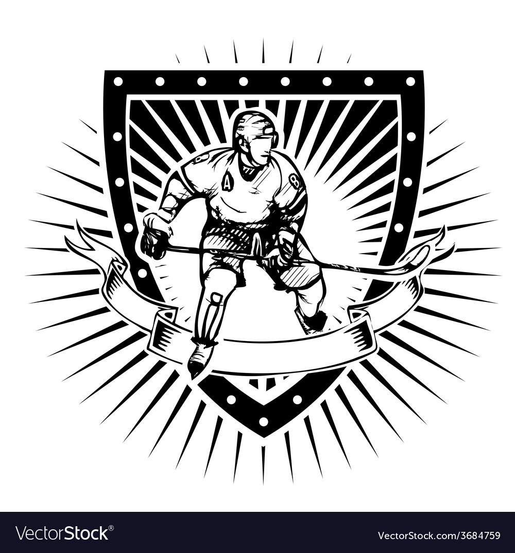 Ice hockey shield