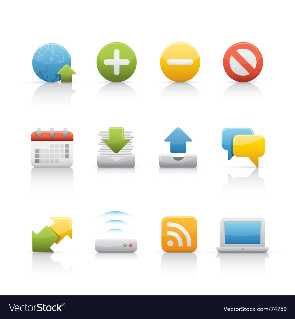 Icon set internet and communications