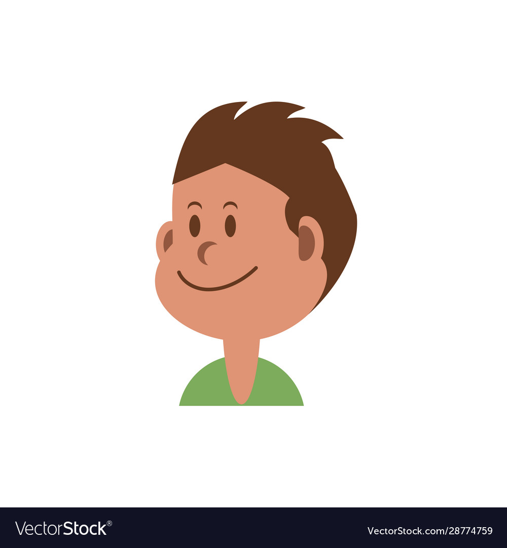 Isolated Boy Cartoon With Brown Hair Design Vector Image