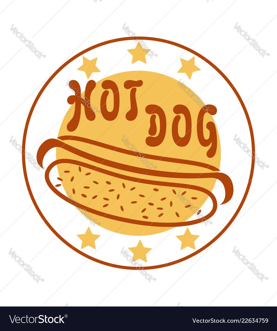 Logo hot dog for fast food