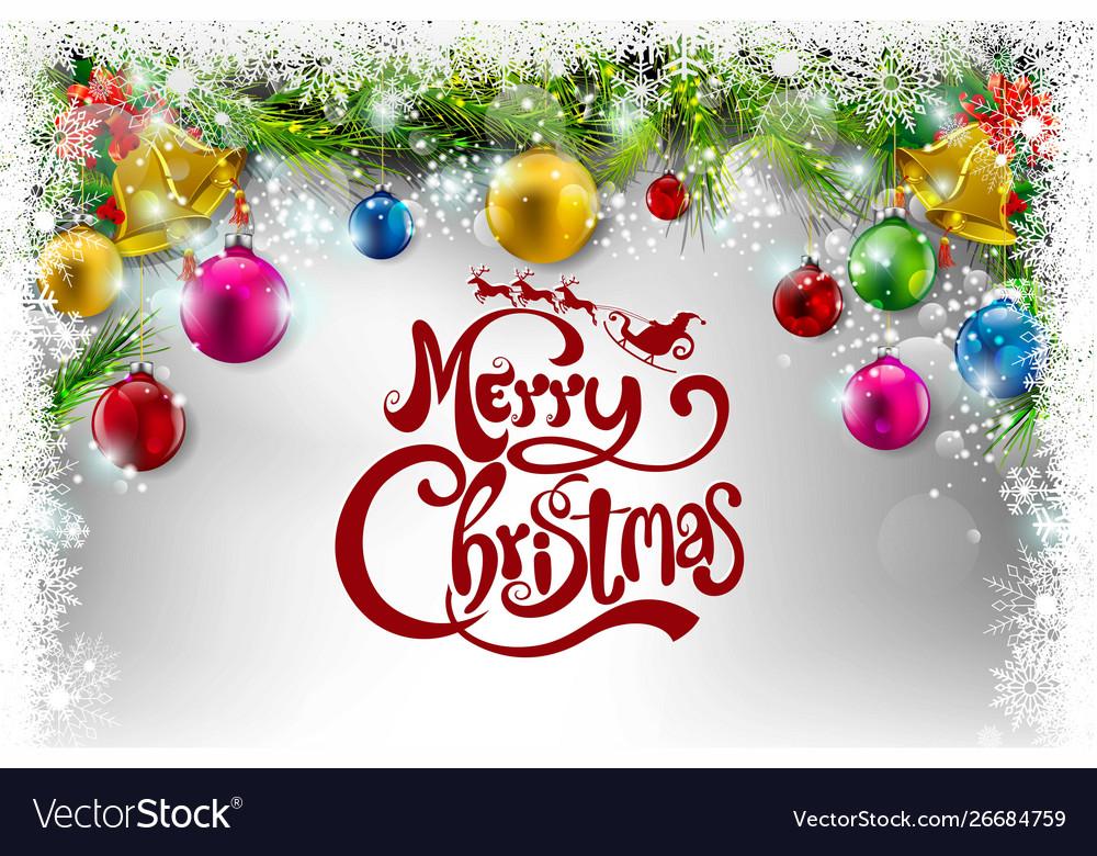 merry christmas everyone greeting card royalty free vector vectorstock