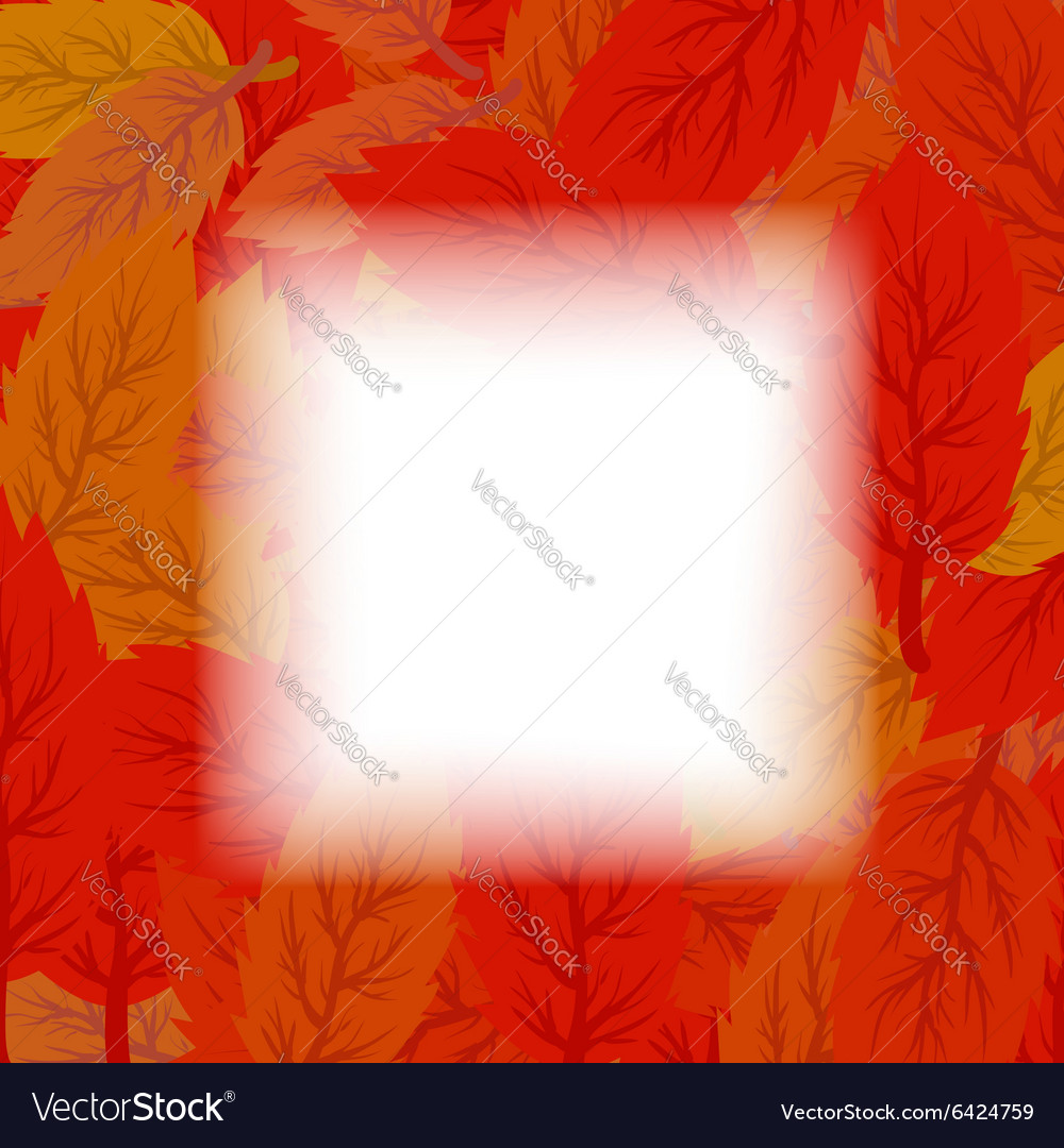 Set of Red and Orange Leaves